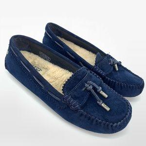 UGG Roni Navy Blue Sheepskin Moccasin